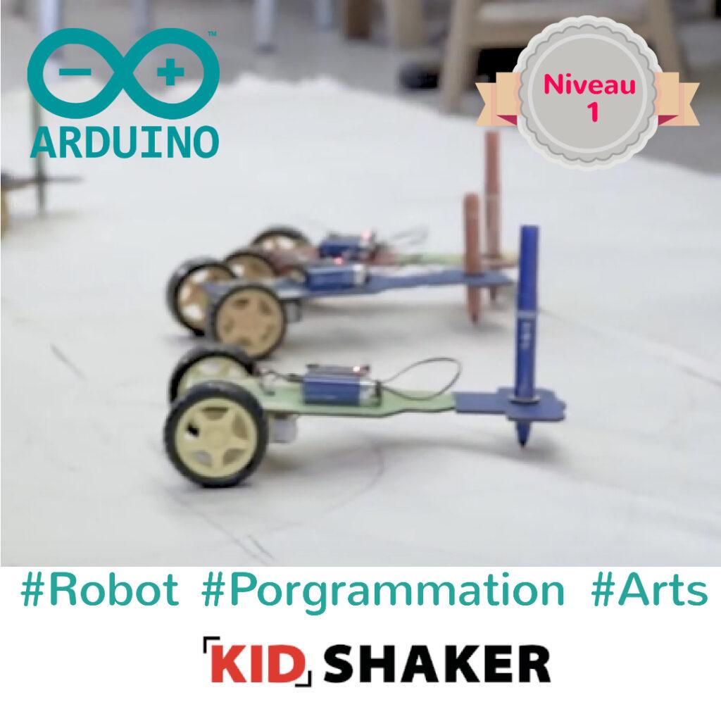 Robot dessinateur arduino arts kidshaker