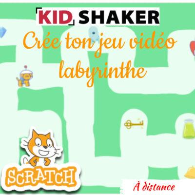 Activité enfant Vacance KIDSHAKER - Crée ton jeu labyrinthe sur scratch