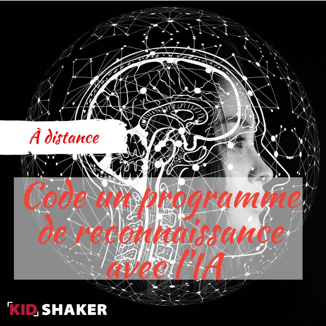 Activité enfant vacance KIDSHAKER - Code un programme de reconnaissance avec l'IA