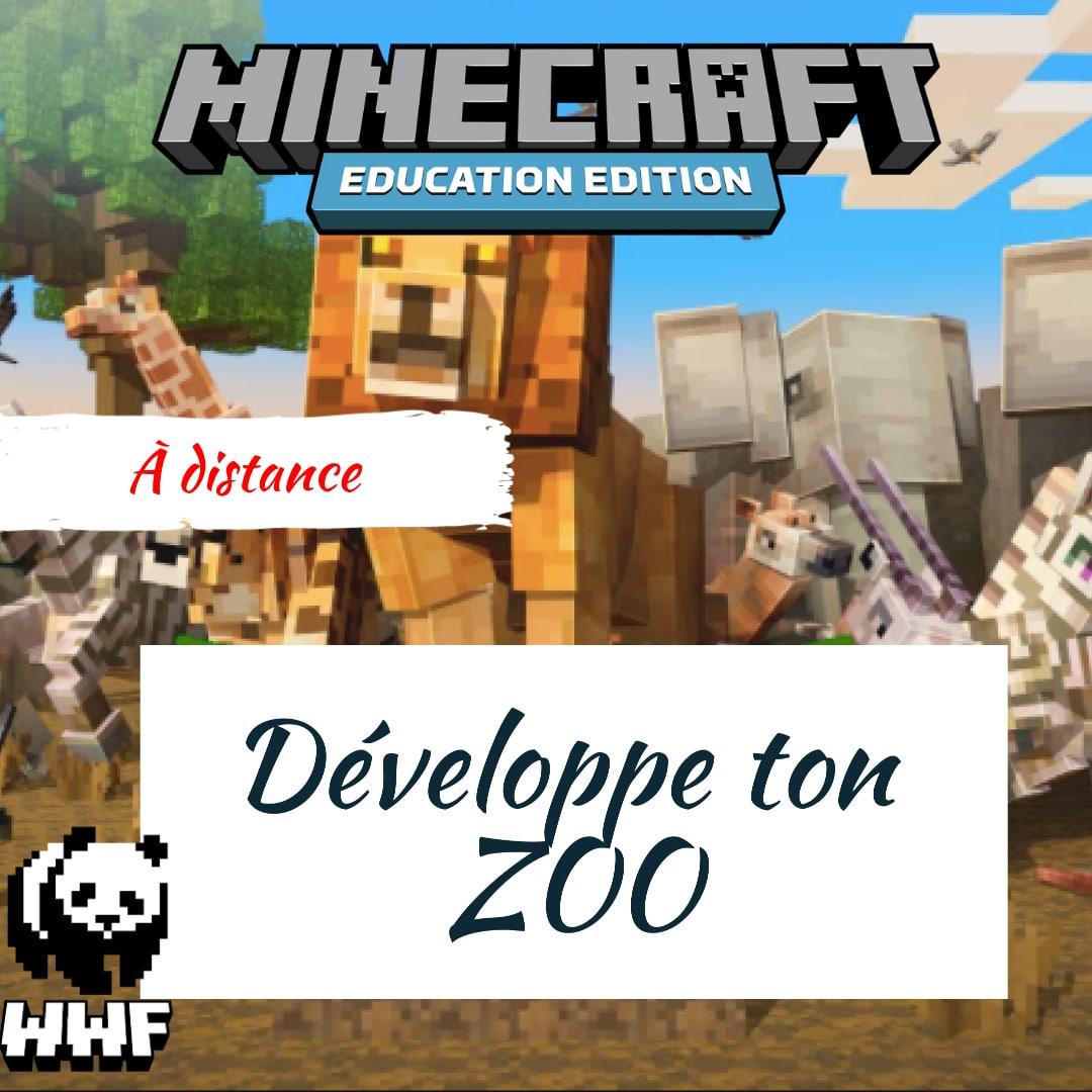 Activité enfant vacance KIDSHAKER - Développe ton zoo sur Minecraft