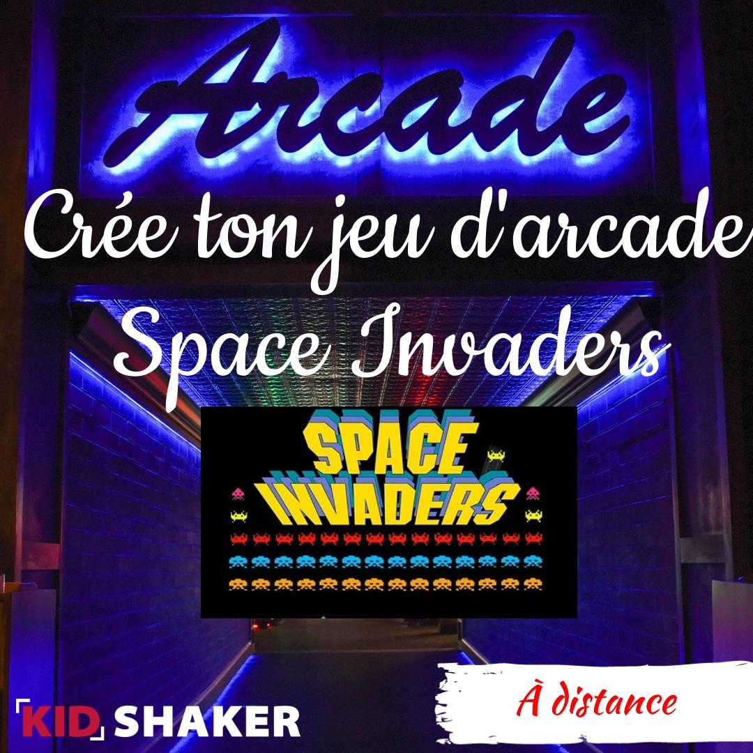 Activités enfants vacances Code ton jeu vidéo d'arcade Space Invaders KIDSHAKER