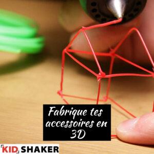 KIDSHAKER Design 3D Stylo 3D Imprimantes 3D Activités 3D