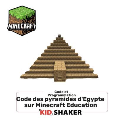Code des pyramides d'egypte sur minecraft education