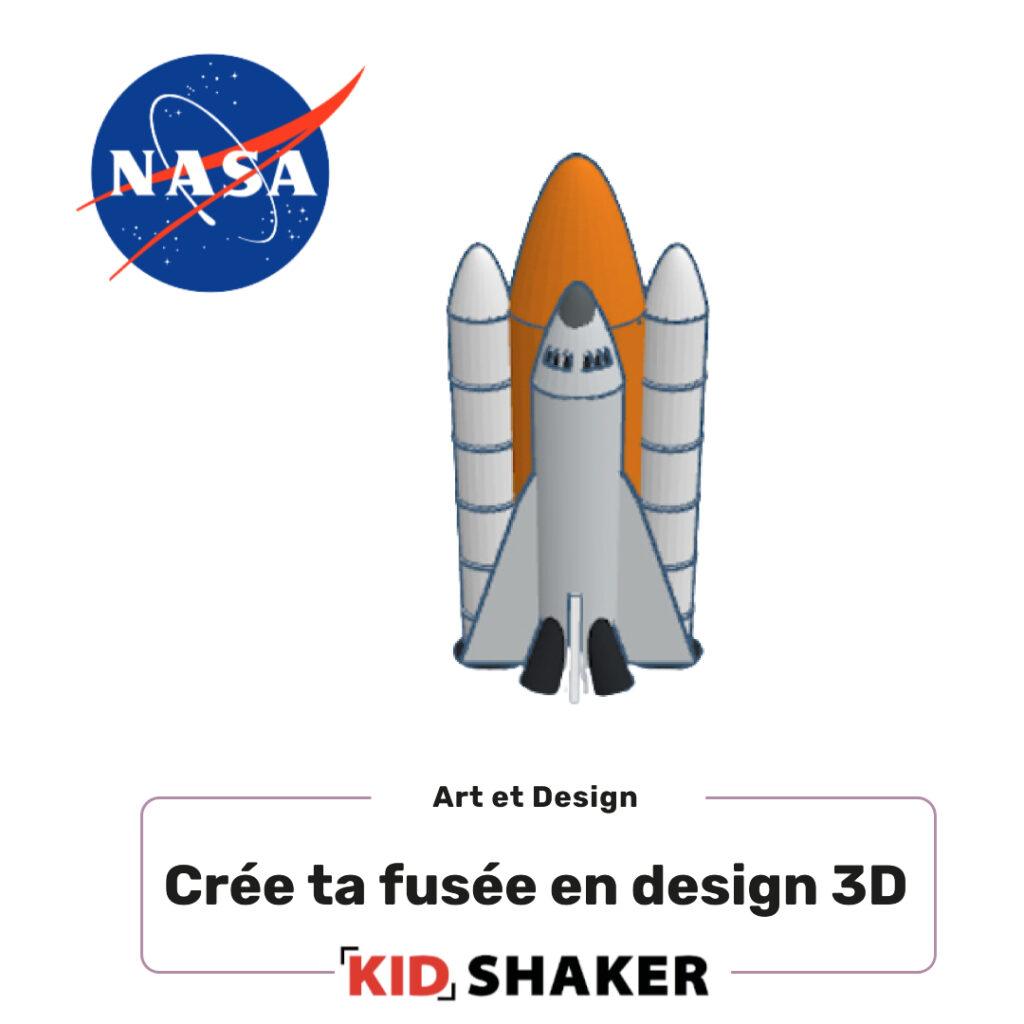 crée ta fusée design 3D kidshaker enfant unique et innovant pour centres de loisirs et écoles