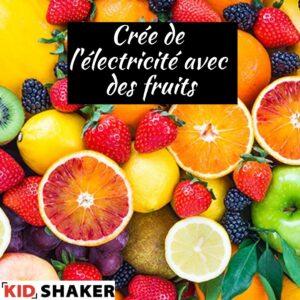 KIDSHAKER crée de l'électricité avec des fruits KIDSHAKER