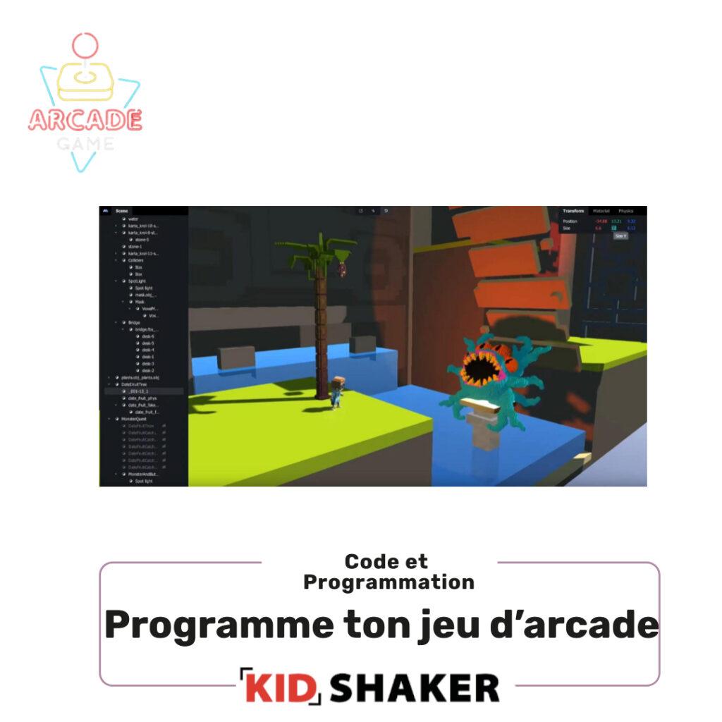 programme ton jeu d'arcade kidshaker enfant unique