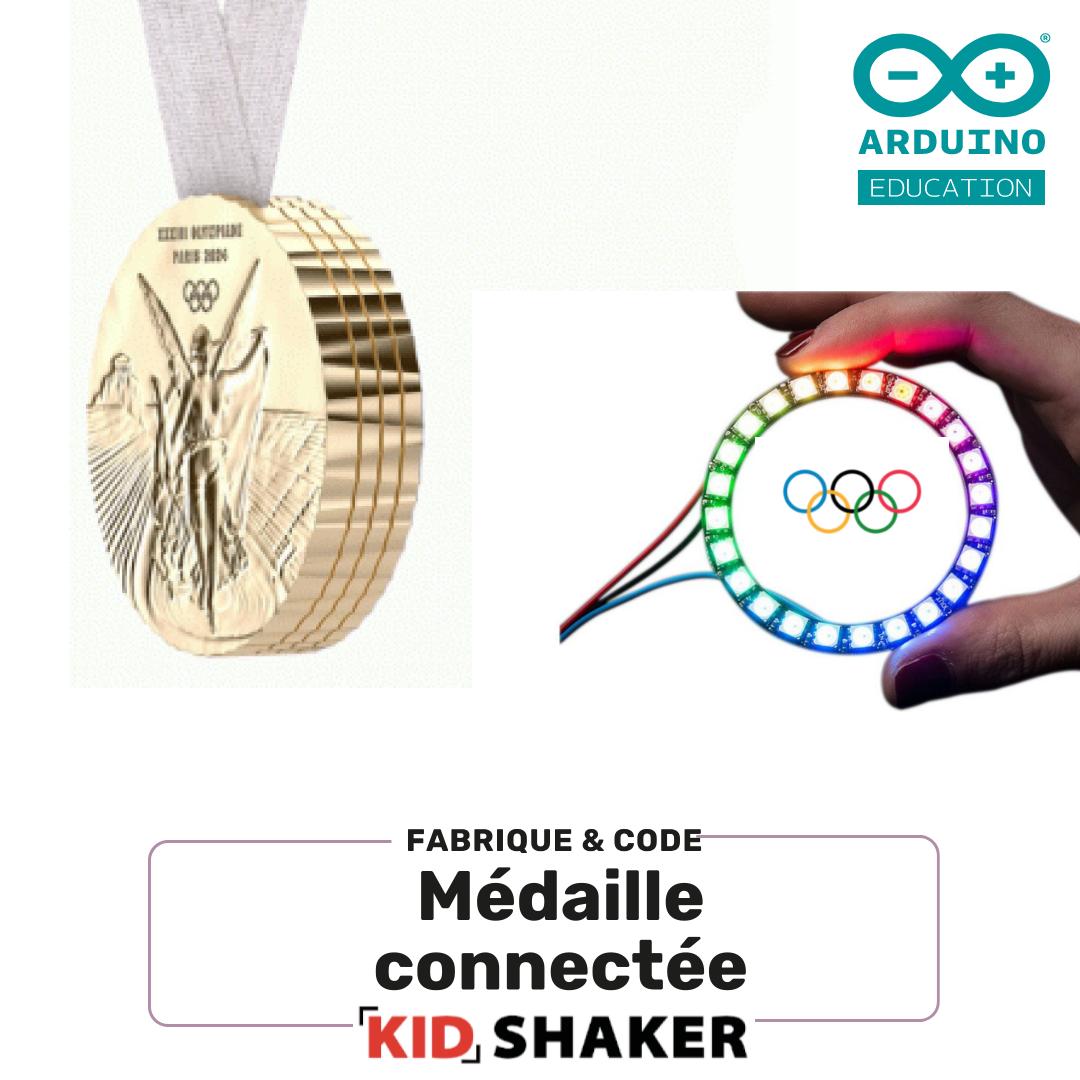 Médaille connectée Arduino kidshaker jeux Olympic kidshaker