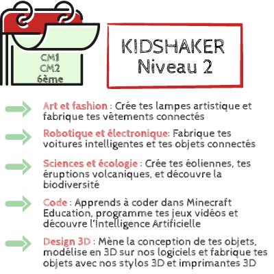 KIDSHAKER NIVEAU 2 CM1-CM2
