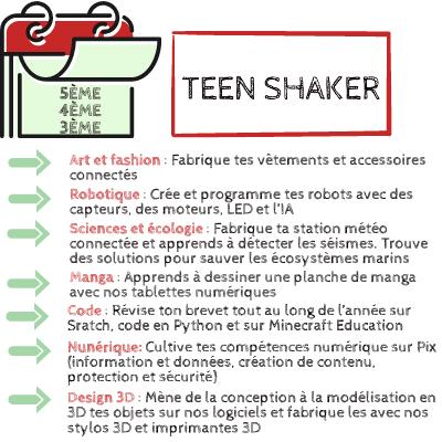 TEEN SHAKER 5ème 4ème 3ème