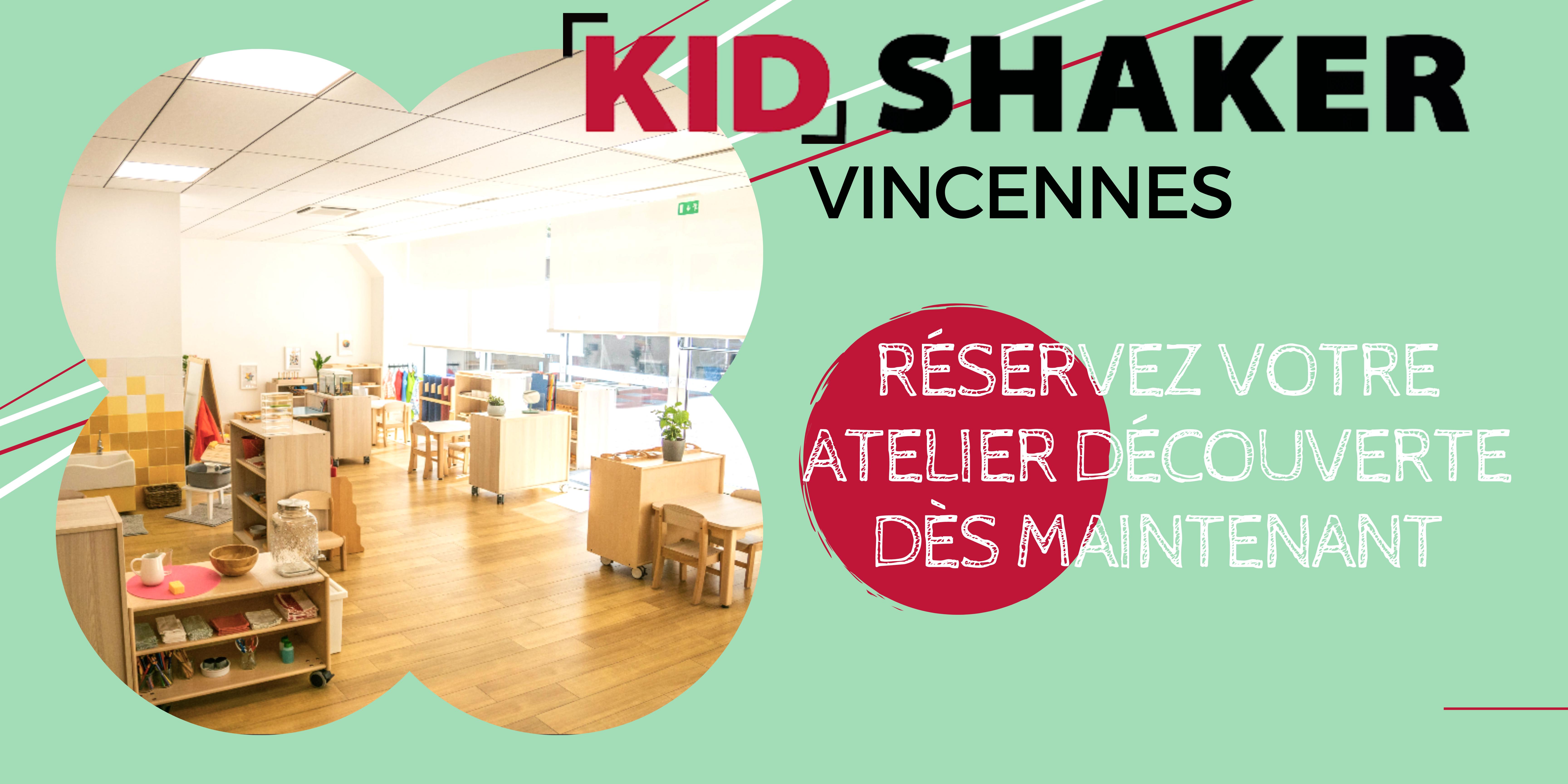 Atelier découverte kidshaker VINCENNES